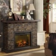 Austin-mantle with electric fireplace