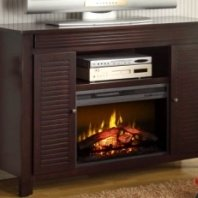 Dalton-mantel with electric fireplace